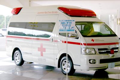 救急車を寄贈